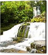 Mclean Falls In The Catlins Of South New Zealand Acrylic Print