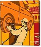 Mechanic Automotive Repairman Retro Acrylic Print