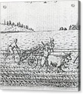 Mechanised Plough, 16th Century Artwork Acrylic Print by Middle Temple Library