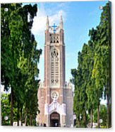 Medak Church Acrylic Print