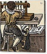 Mediaeval Book Manufacture Acrylic Print