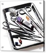 Medical Equipment On A Tray Acrylic Print