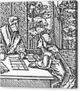 Medieval Arithmetic Acrylic Print