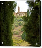 Medieval Church Of Tuscany Acrylic Print by David Letts