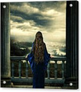 Medieval Lady Watching The Sea Acrylic Print