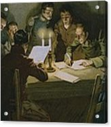 Meeting Of The First Partisans Resisting The Occupiers Acrylic Print