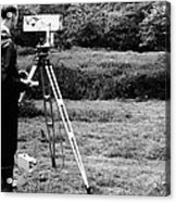 Mekometre Surveying, 1967 Acrylic Print by National Physical Laboratory (c) Crown Copyright