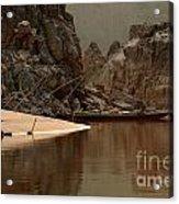 Mekong Landscape Laos Acrylic Print