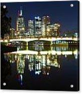 Melbourne Lights Acrylic Print