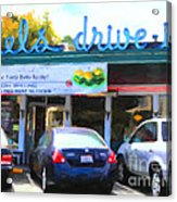 Mel's Drive-in Diner In San Francisco - 5d18014 - Painterly Acrylic Print by Wingsdomain Art and Photography