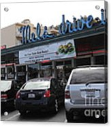 Mel's Drive-in Diner In San Francisco - 5d18027 Acrylic Print by Wingsdomain Art and Photography
