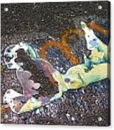Melted Pin Up Girl Acrylic Print