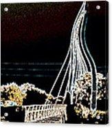 Melting Bridge Acrylic Print by David Alvarez