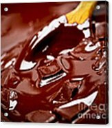 Melting Chocolate And Spoon Acrylic Print
