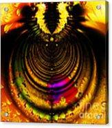 Melting Pot . Gold . Horizontal Cut . S8a.s11 Acrylic Print