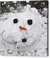 Melting Snowman Acrylic Print