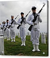Members Of A Ceremonial Honor Guard Acrylic Print
