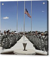 Members Of Team Holloman Stand Acrylic Print by Stocktrek Images