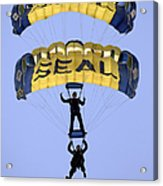 Members Of The U.s. Navy Parachute Acrylic Print