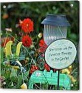 Memories Sign Acrylic Print