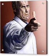 Men Must Know Their Limitations-clint Eastwood Acrylic Print by Reggie Duffie