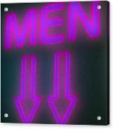 Men Acrylic Print by Richard Piper