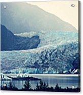 Mendenhall Glacier On A Foggy Morning Acrylic Print