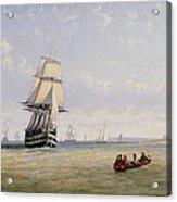 Meno War Schooners And Royal Navy Yachts Acrylic Print