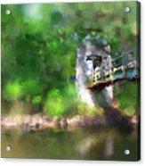 Menomonee River Footbridge  Acrylic Print