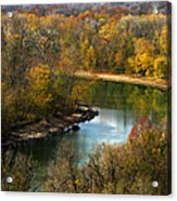 Meramec River Bend At Castlewood State Park Acrylic Print