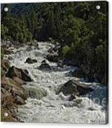 Merced River In Yosemite Acrylic Print by Tim Mulina