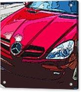 Mercedes Benz Slk Nose Study Acrylic Print by Samuel Sheats