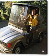 Mercedes Golf Cart Acrylic Print