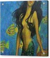 Mermaid Acrylic Print by Alexandro Rios