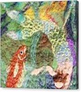 Mermaid And Fish Acrylic Print by Nicole Besack