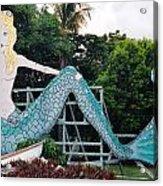 Mermaid Billboard Acrylic Print