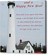 Merry Christmas Lighthouse Acrylic Print