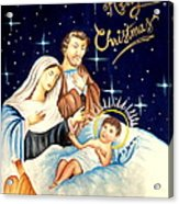 Merry Christmas Acrylic Print by Tanmay Singh