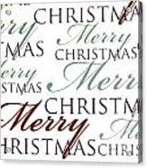 Merry Christmas Words Acrylic Print