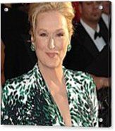 Meryl Streep At Arrivals For 16th Acrylic Print by Everett