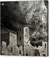 Mesa Verde - Monochrome Acrylic Print