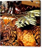 Metal Art 4 Acrylic Print by Karen M Scovill