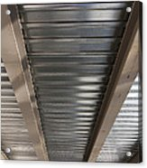Metal Decking Over Structural Steel Acrylic Print