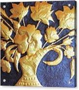Metal Flowers Acrylic Print by Rejeena Niaz