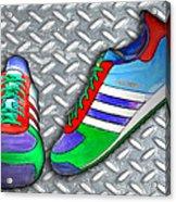 Metal Grate Sport Shoe Acrylic Print