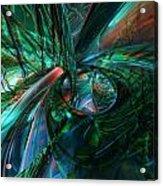 Metal N Shattered Glass Fx  Acrylic Print