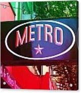 Metro Star Acrylic Print