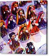 Mexican Dolls Acrylic Print