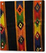 Mexican Throw Rug Colorful Acrylic Print