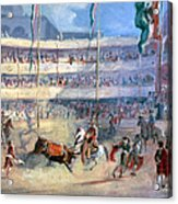 Mexico: Bullfight, 1833 Acrylic Print